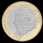 """Королевский монетный двор Великобритании, монета """"Чарльз Диккенс"""""""