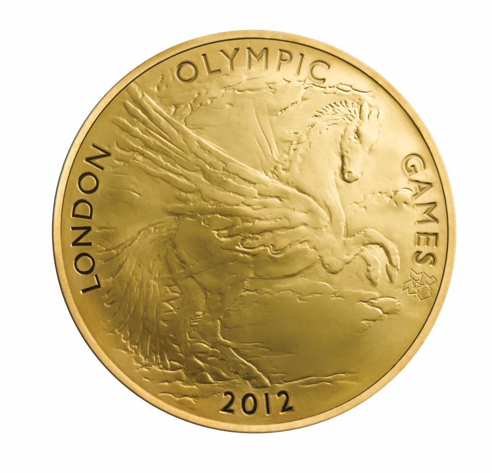 Монета 10 фунтов пегас лондон 2012 великобритания 100 рублевая монета 1993 года цена
