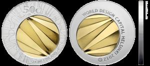 """Серебряная монета """"Хельсинки - Всемирная столица дизайна"""""""