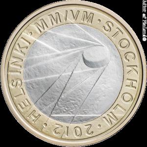 Монета Чемпионата мира по хоккею на льду 2012 г.