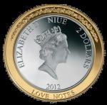 2 доллара, Остров Ниуэ 2012