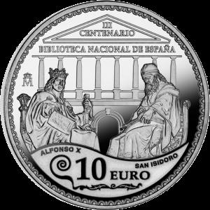 Серебряная монета 10 евро, Испания 2012