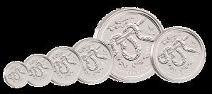 Инвестиционные серебряные монеты к Году Змеи из Перта (Австралия)