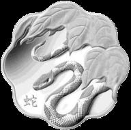 Серебряная монета Канады к 2013 Году Змеи в форме лотоса