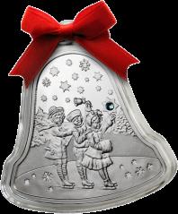"""Серебряная монета """"Рождественский колокольчик"""""""