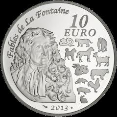 """Серебряная монета """"Год Змеи"""" 10euro Франция"""