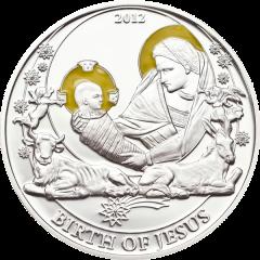 """Серебряная монета """"Рождение Иисуса Христа"""""""