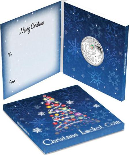 Новогодняя монета серебро