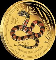 "Золотая цветная монета ""Год Змеи"" 2013 Австралия"