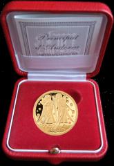 "Золотая монета ""Ангелы"" 2012 Андорра в футляре"