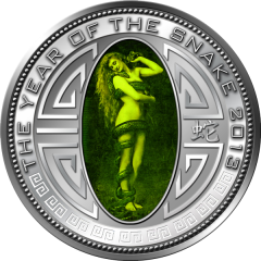 """серебряная монета """"Лилит"""" с голограммой"""