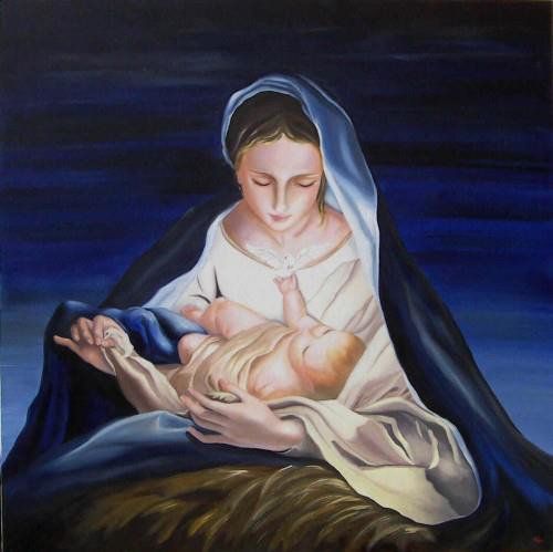 Дева Мария с младенцем. Рождество