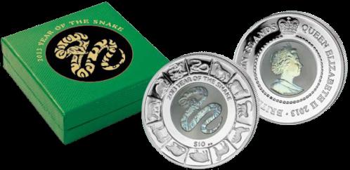"""Монета """"Год Змеи"""" с титановой сердцевиной"""