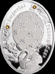 """Яйцо """"Лебедь"""" серебряная монета"""
