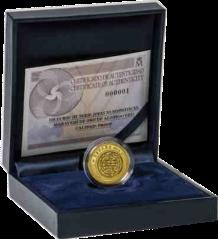 Золотая монета 100 евро 2012 Сокровища нумизматики Испания