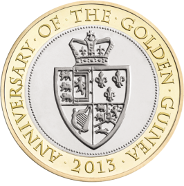350-летие гинеи памятная монета 2013