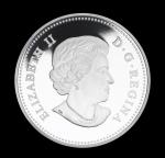 Аверс серебряной монеты Канады