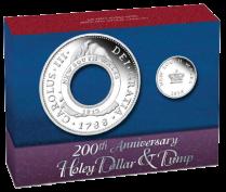"""Коробка набора из 2 монет """"Кольцевой доллар и вставка"""" 2013"""