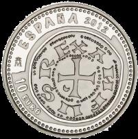 Серебряная монета Сокровища нумизматики 2012