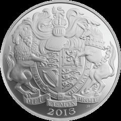 """Аверс серебряных монет набора """"Четыре портрета Королевы"""""""