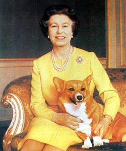 Королева Елизавета и вельш корг