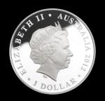 Аверс серебряной монеты Австралии 1 доллар