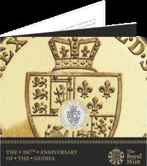 Монета к 350-летию гинеи в упаковке