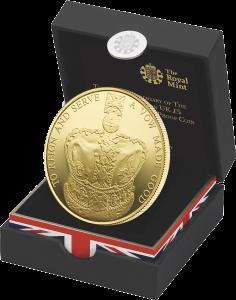 Серебряная позолоченная коронационная монета