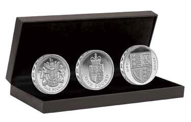 30-летие однофунтовой монеты набор серебряных монет