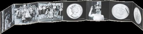 Коронационная монета Буклет