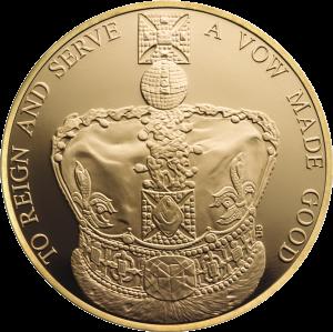 Золотая коронационная монета 2013