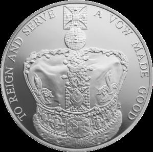 Серебряная коронационная монета