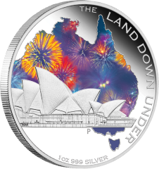 Land Down Under Сиднейский оперный театр Серебряная 1oz монета 2013