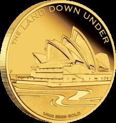 Land Down Under Сиднейский Оперный театр четверть унции золотая монета 2013