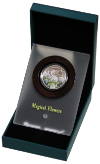 Флоентийский ирис серебряная монета в футляре