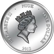 Аверс монеты 1 доллар Ниуе 2013