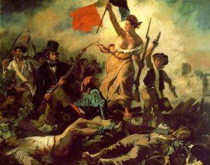 Delacroix Свобода, ведущая на баррикады 1830