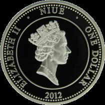 "Аверс серебряной монеты ""Ирисы"" 1 доллар 2012"