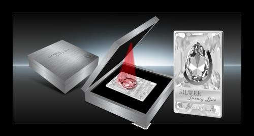 Silver-Luxury-Line-2013 серебряная монета с кристаллом и подсветкой