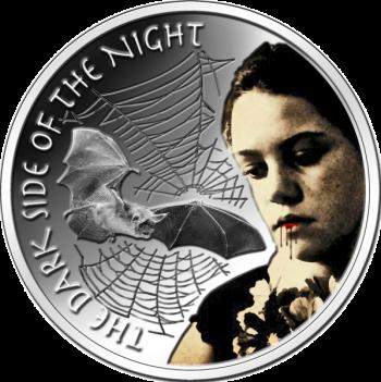 """Монета """"Тёмная сторона ночи"""" 1 доллар Ниуе"""