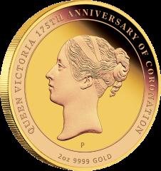 Золотая монета в честь 175-летия Коронации Королевы Виктории