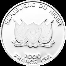 """Аверс серебряной монеты """"Койот"""" 1000 нигерийских франков"""