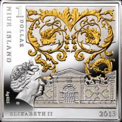 Монета серебро 2013 Мадонна под елями 1 доллар 2013 аверс