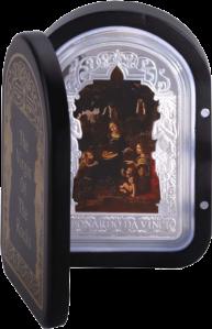 Мадонна Леонардо да Винчи 2013 1 кг серебряная монета Андорра 100 динаров в футляре