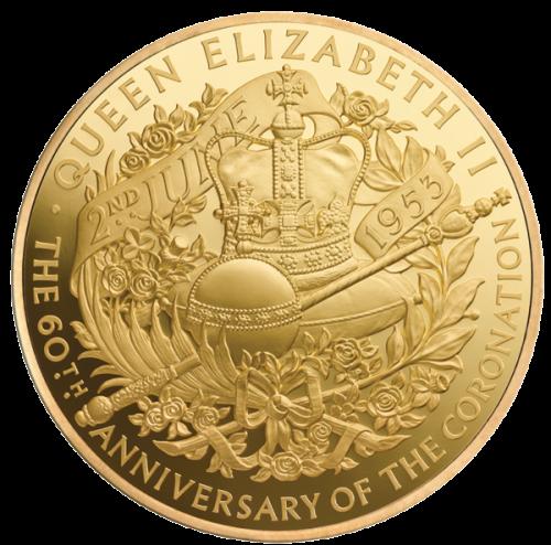 Килограммовая золотая коронационная монета 2013