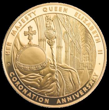 5 унций Коронационная золотая монета Елизаветы II 2013