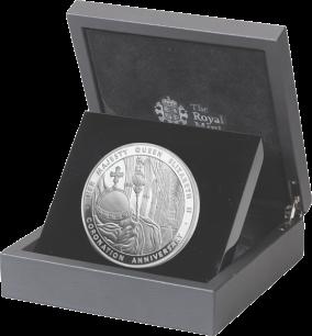 5oz серебряная коронационная монета 2013 в футляре
