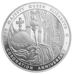 Cjrjnation 5oz silver coin 2012 Royal Mint