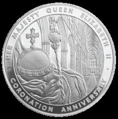 Cjrjnation 5oz silver coin 2012 Royal Mint
