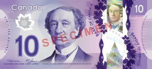 Canada 10 dollars note 2013